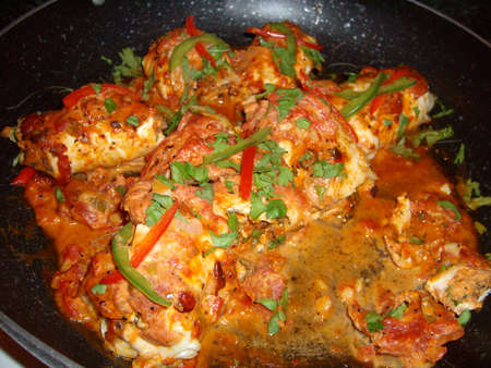 Red snapper fish cooked relleno style 스톡 콘텐츠