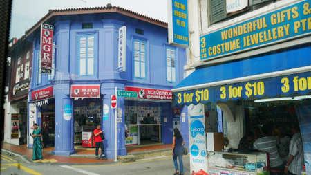 SINGAPORE—More shops and stores line up along the Little India District at the Serangoon Road, Singapore. Photo taken in March 2016.