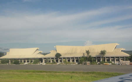 Old airport terminal building in Sasa, Davao City, Philippines 報道画像