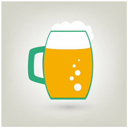 Beer mug with foam icon. Vector illustration