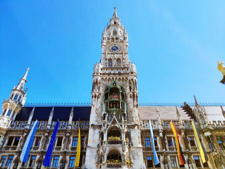 New Town Hall at Marienplatz Mary Square in Munich