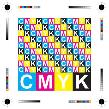 CMYK letters design art image Stock Vector - 23120285