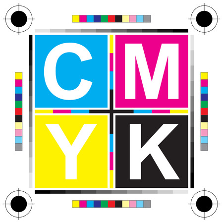 cmyk abstract: CMYK letters design art image