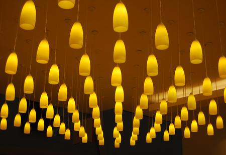 lofty: Yellow lights Stock Photo