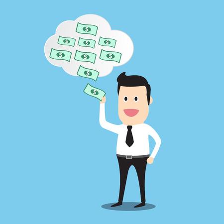man made: business man made money info graphic Business Concept Cartoon
