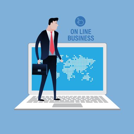 joined hands: El mundo de los negocios de línea. concepto de negocio ilustración, diseño de imágenes prediseñadas