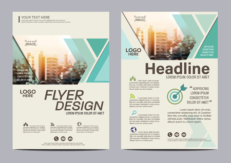 Green Brochure Layout design template. Annual Report Flyer Leaflet cover Presentation Modern background. illustration vector in A4 size