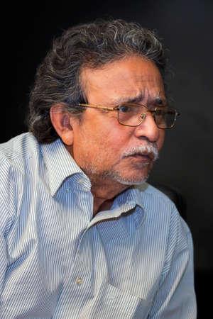 Bangladesh – October 18, 2016: Delwar Jahan Jhantu, One of the most populer Film Director & Producer in the Bengali film industry at BFDC, Dhaka. Sajtókép