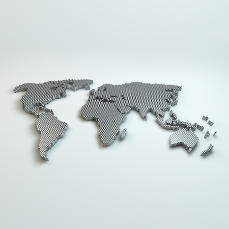 World Map on whit background