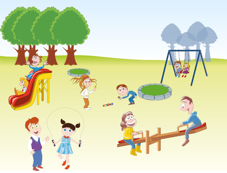 park: Children playing in the park