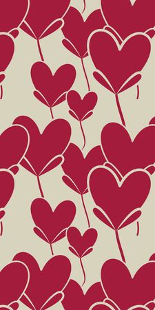Valentines day. Red hearts Stock Photo