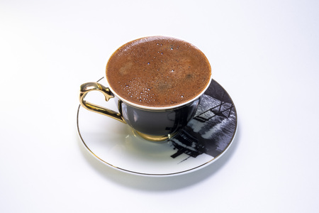 Turkish Coffe in a Black and White Cup