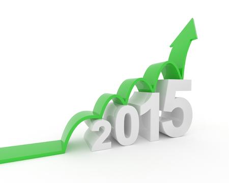 year 2015 growth Stok Fotoğraf