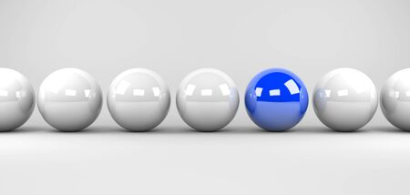 blue sphere: 3d render illustration - blue sphere stands out