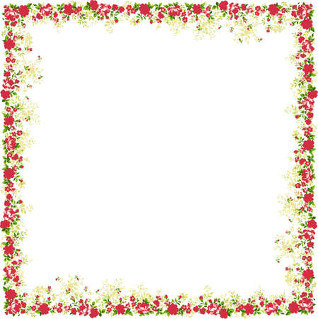 Floral frame. A design element.