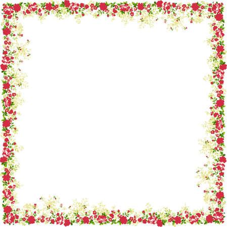 Floral frame. A design element.