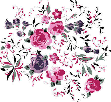 Floral background. Flower design elements.