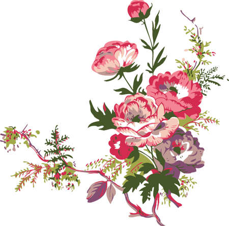 Floral background. Branch of flowers.