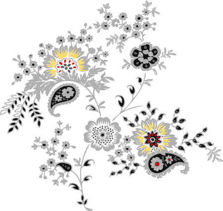 Background of flowers. Design for wallpapers.