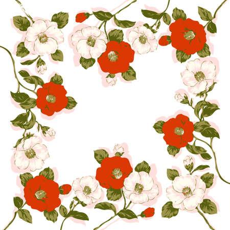 Background design elements. Floral frame.