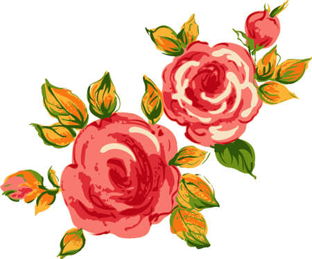 Background red roses. Floral design.