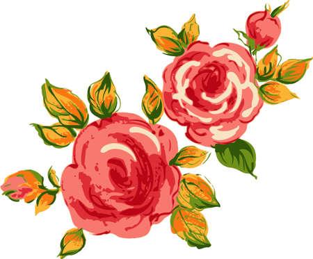 Background red roses. Floral design.