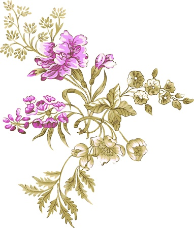 Lily flowers. Floral design wallpaper
