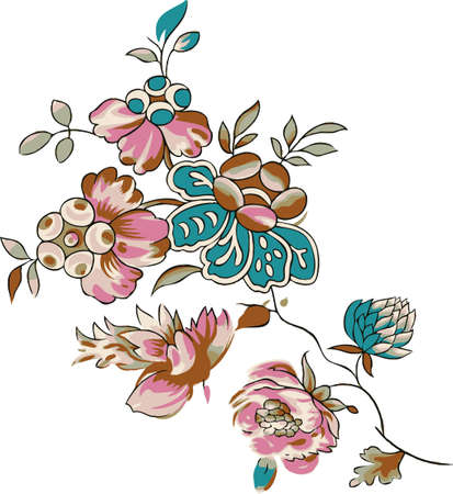 Fabulous flowers. Background for design.