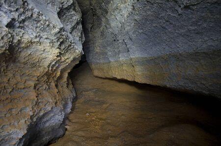 ukraine: Karst cave in the western Ukraine