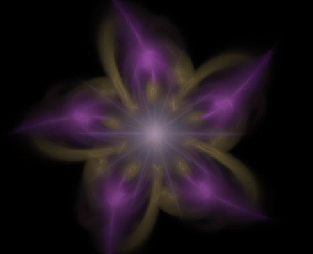Abstract fractal background, blurry fractal flower on a black background Stock Photo