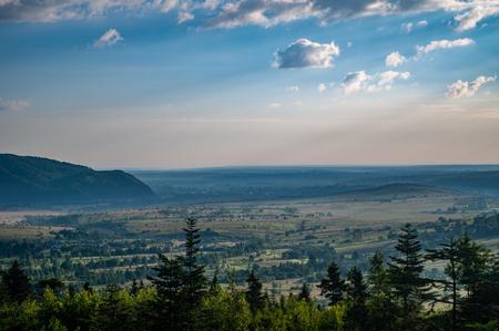 Morning in the Carpathian village