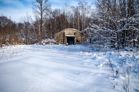 Entrance to an abandoned Soviet bunker