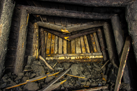 The collapse in the old salt mine