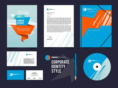 corporal: Different business identity elements set. Corporal style vector template Illustration