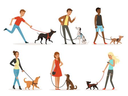 Animal friendship Illustrations in cartoon style