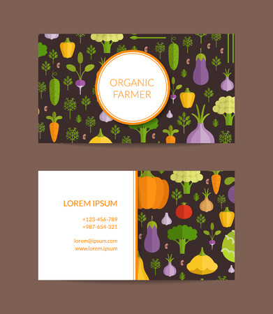 Vector flat vegetables organic farm vegan healthy food business vector vector flat vegetables organic farm vegan healthy food business card template cheaphphosting