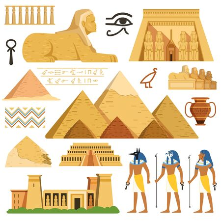 Pyramid of egypt. History landmarks. Cultural objects and symbols of egyptians