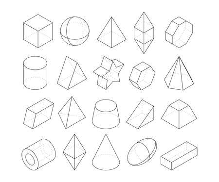 Monoline illustrations. Frames of different geometry shapes Illustration