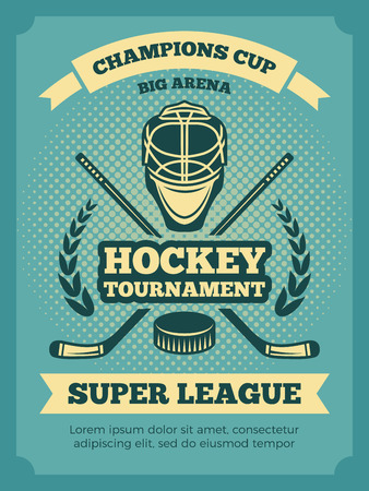 Vintage poster of hockey championships.