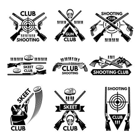 Etiquetas para o clube de tiro.