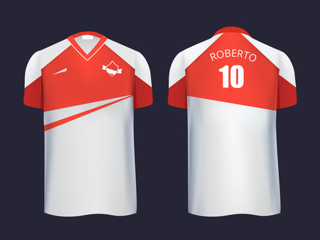 Football uniform template front and back view. Illustration