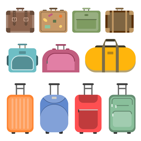 Different Handle Bags And Travel Suitcases. Pictures In Flat.. Royalty Free Cliparts, Vectors, And Stock Illustration. Image 93067871.