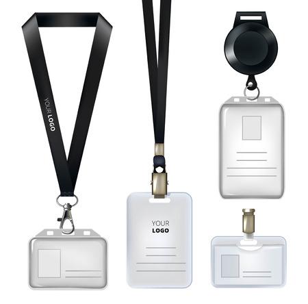 Realistic template of identification card or personal badges Zdjęcie Seryjne - 94393856