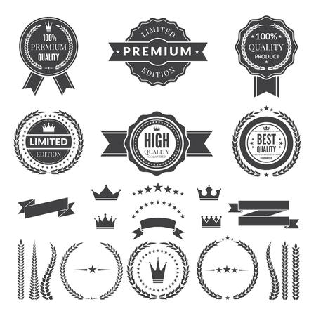 Design template of premium badges or logos