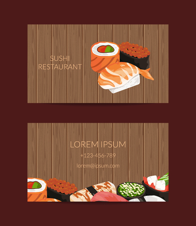 Vector business card templates in cartoon style for sushi restaurant vector business card templates in cartoon style for sushi restaurant royalty free cliparts vectors and stock illustration image 94821698 fbccfo Choice Image