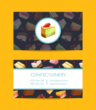 Vector confectionary, cooking or pastry shop Illustration