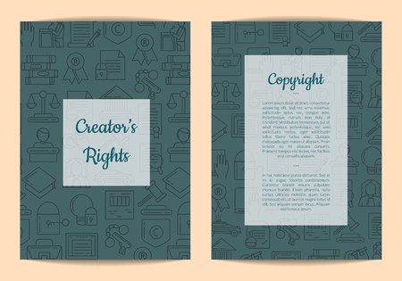 Vector linear style copyright elements card