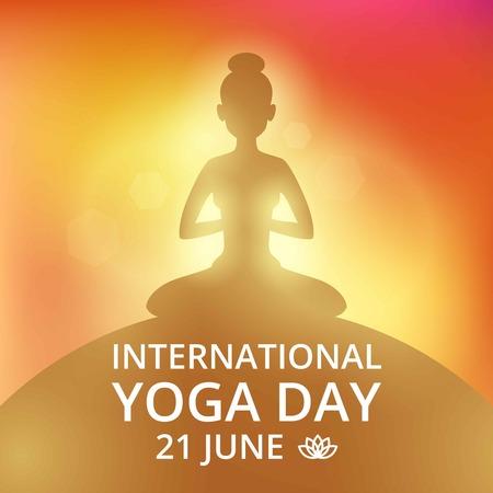 Poster invitation on yoga day 21 june