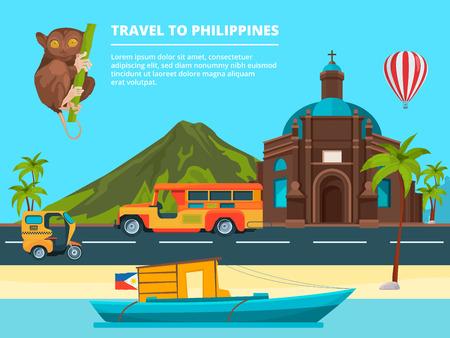 Urban landscape with Landmarks of Philippines