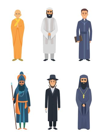 Christian, jewish and other different religion leaders